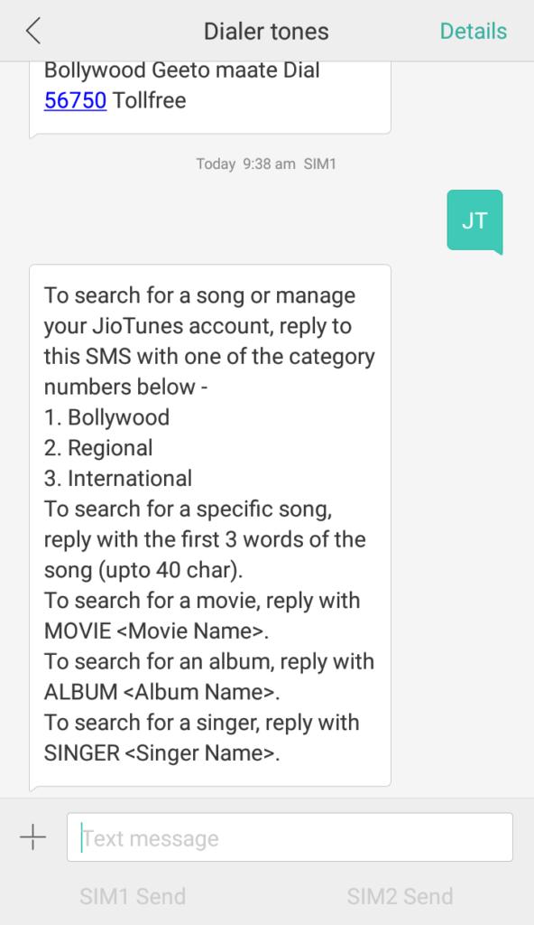 set caller tune in jio