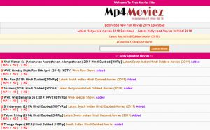 Mp4moviez: New HD MP4 Movies Download