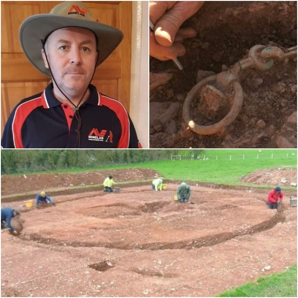 Man Discovers the Buried Chain and Continues Pulling It, Unable to Believe What He Found